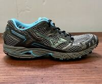 Mizuno Wave Ascend 4 Women's Athletic Running Shoes Gray Light Blue Size 9 W