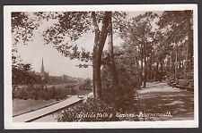 Postcard Bournemouth Dorset the Invalids Walk and Gardens posted 1910 RP Barton
