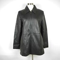 Wilsons Leather Pelle Studio Women's S - Black Glove Leather Zipped Jacket SOFT
