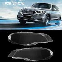 Remplacement Lentilles de phares Clear Couverture Pour BMW X5 E70 E71 07-2012