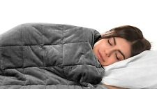 Bell + Howell WEIGHTED BLANKET w Glass Beads Filling for Calm Deep Sleep 3 SIZES