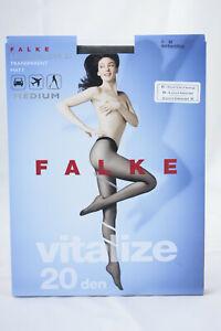 Falke ~ VITALIZE 20 ~  leg vitalizer tights BNWT ~ Medium black 20 denier