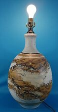 Rare Vintage Wishon-Harrell Signed Original Stoneware Pottery Lamp