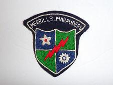 b1812 WW2 US Army CBI 5307th Merrill's Marauders hand tab China Burma India R4C