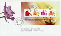 CANADA #2243 FLOWERS DEFINITIVES SOUVENIR SHEET FIRST DAY COVER