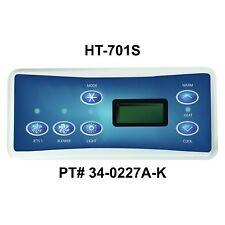 HydroQuip / Balboa Spaside, Vl701S, With L 00004000 abel, P1/Bl/Lt, Part # 34-0227A