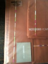 MISSONI HOME MINA KING SHEET SET FLAT/ FITTED & PILLOWCASES MADE IN ITALY NIP