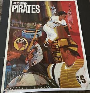 "SCARCE 1971 BASEBALL PROMOTIONS/MLB~PITTSBURGH PIRATES~ 23x29""~POSTER PREMIUM"