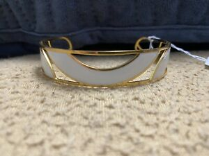 Howards White 14k Gold-Plated Swirl Cutout Cuff