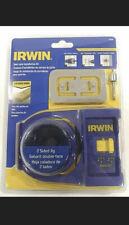 BRAND NEW Irwin 3111001 Wooden Door Lock Installation Kit SEALED Carbon Hole Saw