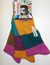 Unidos oddsocks tres Tejido Grueso Funky Rayas odd socks Para Hombre Uk 6 - 11 Regalo