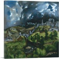 ARTCANVAS View of Toledo 1599 Canvas Art Print by El Greco