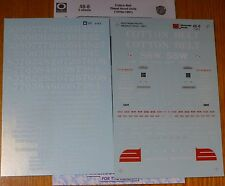 Microscale Decal O #48-8 (2 Sheet Set) Cotton Belt Diesel Hood Units (1970s - 91