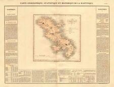 Isla de la Martinica. Antillas Francesas. Antillas' . Buchon 1825 Mapa