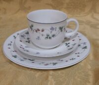 Royal Doulton Expressions STRAWBERRY FAYRE Teacup, Saucer & Salad Plate - 3 pcs