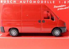 Busch 89113 Fiat Ducato Rot Transporter H0 / 1:87 Neu