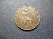 1919 FARTHING COIN KING GEORGE THE FIFTH GOOD USED CONDITION, BRONZE.