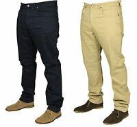 MENS LEE JEANS BROOKLYN STRAIGHT LEG REGULAR FIT DESIGNER NAVY BEIGE 30 TO 44