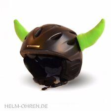 Helmhörner /Ohren /Hörner Deko Aufsatz f. Helm/ Skihelm/ Snowboardhelm Neon Grün