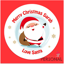 Personalised Christmas Stickers Present Labels From Santa Gift Tags Xmas Seals