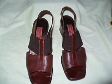 ss COLE HAAN COUNTRY ITALIAN MADE BROWN LEATHER SLINGBACKS WOMENS 9.5 B