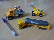 voitures jouet 3 véhicules engins de chantier WELLY jaunes