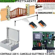 Centrale Cancello Automatico Compatibile Serai 1/2 Motori 220 V. 2 Rad. Rol. Cod
