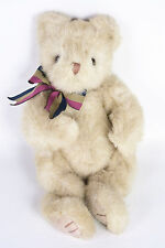 "Ty Classic Baby Spice Teddy Bear 11"" Plush Tan Stuffed Animal Bow 1995 Byby 5104"