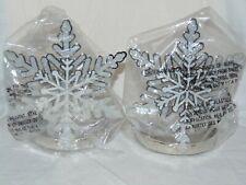 Bath & Body Works Glittering Snowflake Shield for 14.5oz candles x2