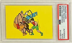 1989 Topps Nintendo Punch Out Manny Pacquiao Signed Auto Trading Card 25 PSA/DNA