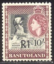 Basutoland #71a Mint Nh - 1961 1r on 10sh Surcharge ($67)