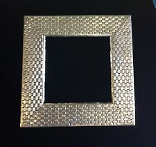 Braided Silver Picture Frame.
