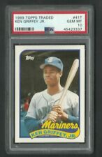 PSA 10 GEM MINT KEN GRIFFEY JR ROOKIE 1989 TOPPS TRADED  #41T