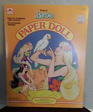 Vintage Tropical Barbie Paper Dolls 1986 UNCUT NOS Golden Book