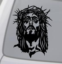 JESUS FACE Vinyl Decal Sticker Car Window Wall Bumper God Christ Crucifixion
