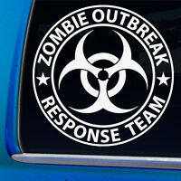 Zombie Outbreak Response Team Funny Vinyl Decal Window Sticker Car Bumper Gift W
