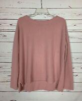 Splendid Women's M Medium Light Pink Soft Thermal Long Sleeve Spring Top Shirt