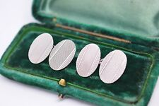 Vintage Sterling Silver cufflinks with an Art Deco style #B243