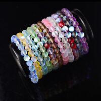 Handmade Natural Moonstone Round Beads Stretch Bracelets Wholesale 6mm 8mm 10mm