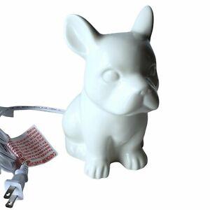 White Frenchie Ceramic Night Light Lamp French Bulldog Lover Owner Nightlight