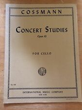 Cossmann concert studies for cello opus 10