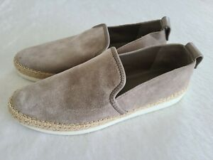 New Vince. Womens Slip-On Loafer Sneaker Shoe Size 9 taupe Gray Suede Espadrille