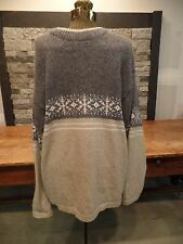 Unlimited Quest Wool Sweater Made in Canada Men's Large Snowflake Design