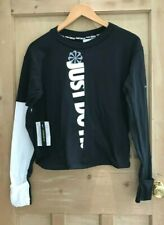 Nike BLACK THERMA sphere ICON CLASH long sleeve TOP SIZE S 8 10 BNWT RRP £64.95!