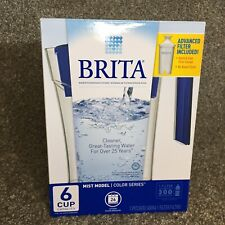 Brita 6 Cup BPA Free Water Pitcher Color Series Advanced Filter New