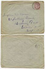 BOER WAR 1900 BRITISH ARMY POST OFFICE on 1d LILAC AUGUST 30th to HIGHBURY GB