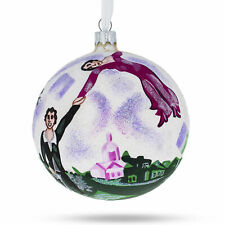 """Marc Chagall """"The Promenade"""" Glass Ball Christmas Ornament 4 Inches"""