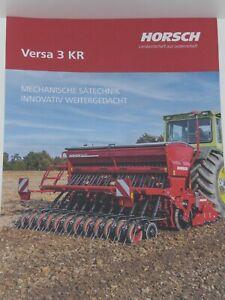HORSCH VERSA 3 KR Sämaschine Prospekt 02/2021 mi MB trac 1800 intercooler (A3053