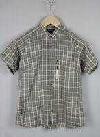 HAGLOFS CLIMATIC Women's SMALL Short Sleeve Mandarin Collar Snap Shirt JS15747_