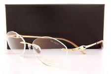 3040422e6 Nova armação para óculos Silhouette Caresse Peal 4529 6051 Dourado/Pérola  Branco, Tamanho 52